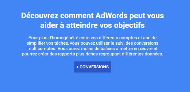 Google Ads installer les Conversions