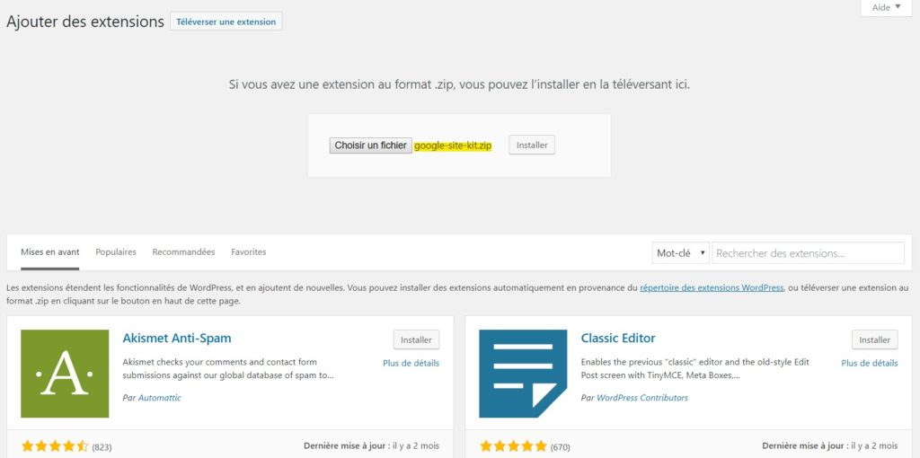 Ajouter extension .zip sur WordPress