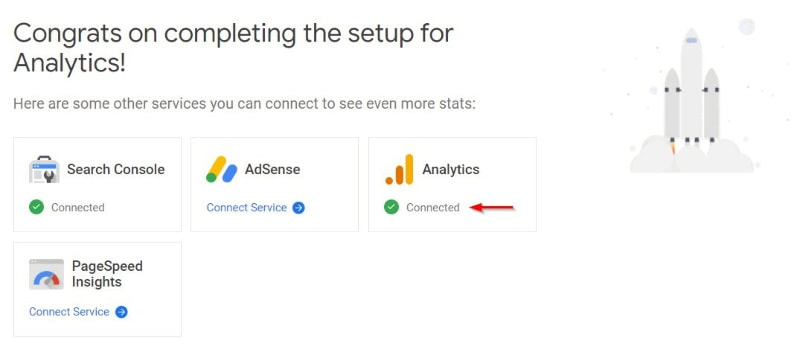 Completing Analytics Setup Google Site Kit
