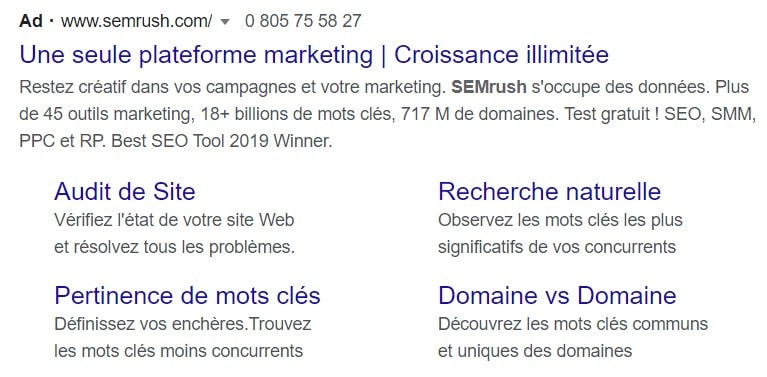 Annonce Google Exemple